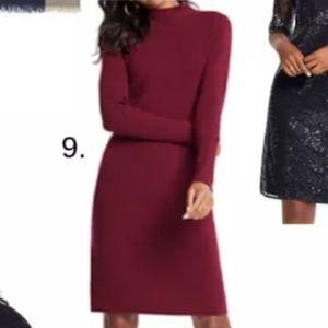 Ann taylor burgundy wool dress